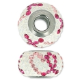 Swarovski 81943 BeCharmed Pavé 14 mm Light Rose/Fuchsia/White Opal x1