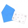 Mini envelopes and cards decorated 4.5x3 cm Blue x10