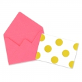 Mini envelopes and cards decorated 4.5x3 cm Fuchsia x10