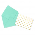 Mini envelopes and cards decorated 4.5x3 cm Green Turquoise x10