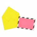 Mini envelopes and cards decorated 4.5x3 cm yellowx10