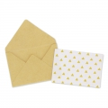Mini envelopes and cards decorated 4.5x3 cm Kraft x10