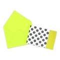 Mini envelopes and cards decorated 4.5x3 cm Lime x10