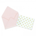 Mini envelopes and cards decorated 4.5x3 cm pink x10