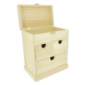Wooden commode Patchwork Family 22.5x19x12 cm Natural x1