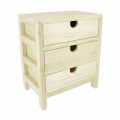 Wooden commode  Patchwork Family 23.5x19.5x13.5 cm Natural x1