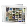 Assorted Bead Storage Tray - Tray and assorted boxes