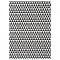 Paper Patch Triangles 42x30 cm white /black x1 sheet
