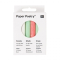 Chalks Paper Poetry for slate 7.5 cm Multicolour x12