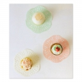 Assortment of doilies Made by Me Pâtisserie 14 cm Pastel x12