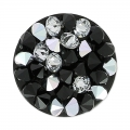 Crystal Rocks Round Swarovski 340081 15 mm Jet/Crystal CAL x1
