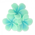 Resin cabochon flower 22mm Mint x1