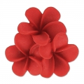 Resin cabochon flower 22mm Red x1