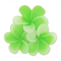 Resin cabochon flower 22mm Green Appel x1