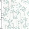 Fabric In The Tropics - Palm Tree white/Mint x10cm