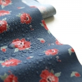 Coated Fabric Red Velvet - Navy blue/Red x10cm