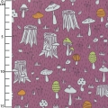 Coated Fabric Fairyland - Mushrooms Violet x10cm