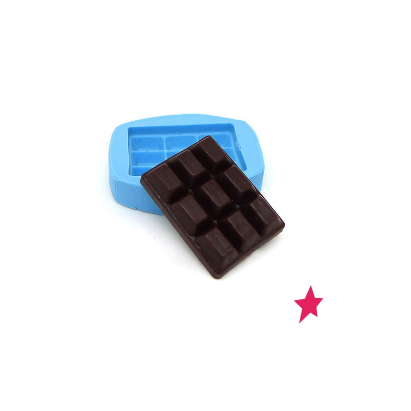 Mini Silicon Mold 17x23 Mm Chocolate Bar Perles Co