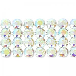 4f9d8f04e588b Swarovski Crystal Mesh 40001 4 rows 11mm Crystal AB x5cm - Perles   Co