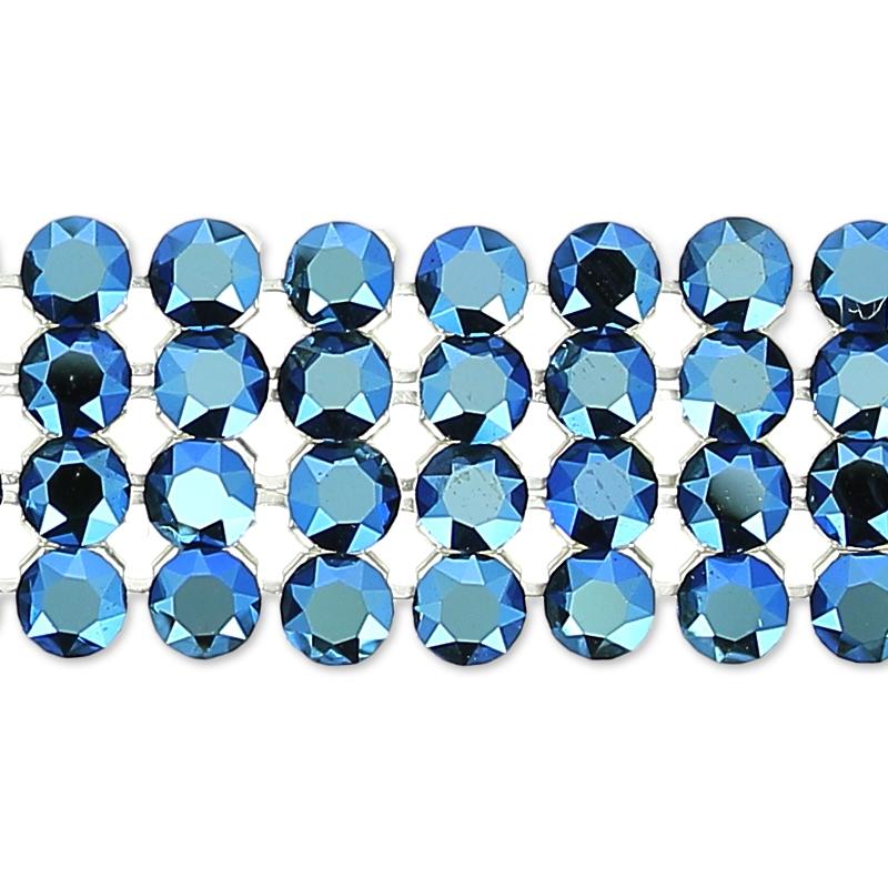 Swarovski Crystal Mesh 40001 4 rows 11mm Crystal Metallic Blue x5cm -  Perles   Co b1e2b612db