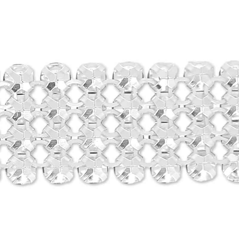 a6c5727ce2b92 ... Swarovski Crystal Mesh 40001 4 rows 11mm Crystal Metallic Blue x5cm ...