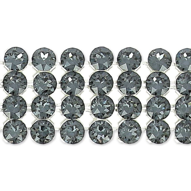 dfd629c6d Swarovski Crystal Mesh 40001 4 rows 11mm Crystal Silver Night x5cm - Perles  & Co