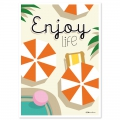 Post card  Fifi Mandirac 15x10.5 cm Enjoy Life x1