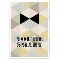 Post card  Fifi Mandirac 15x10.5 cm You're Smart x1