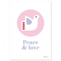 Post card  Fifi Mandirac 15x10.5 cm Peace & Love x1
