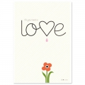 Post card  Fifi Mandirac 15x10.5 cm All You Need Is Love x1