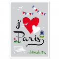 Post card  Fifi Mandirac 15x10.5 cm J'aime Paris x1