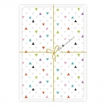 Set of 5 cards and enveloppe Fifi Mandirac 15.5x10.5 cm Triangles