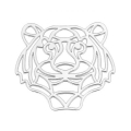 925 Sterling Silver Tiger spacer 18.5mm x1