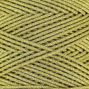 Sticky synthetic waxed cord 1mm gold tone x 1 m