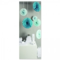 Set of 3 Paper wheels Paper Poetry 40-30-25 cm Aqua
