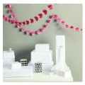 Paper Garland Hearts Paper Poetry Pink/Red x 1.5m