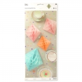 Assortment of 3 paper Diamonds table decoPaper Poetry Pastel