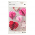 Assortment of 3 paper Hearts Table decoration Paper Poetry Fuchsia
