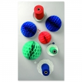 assortment of 3 paper balls Table Deco Paper Poetry Multic.