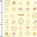fabric Live Life - Pastries Cream x10cm