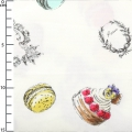 fabric Sweet Rondeaux - Sweets white x10cm