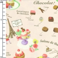 fabric Sweet Rondeaux - Sweets from Paris Pink x10cm