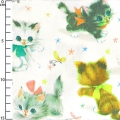 fabric 50's Vintage Wrap - Kitty white x10cm