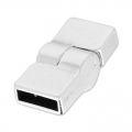 Magnetic clasp 26x12 mm for 10mm band old silver tone x1