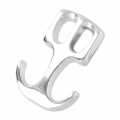 Hook clasp anchor 22x15 mm old silver tone x1
