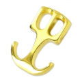Hook clasp anchor 22x15 mm gold tone x1