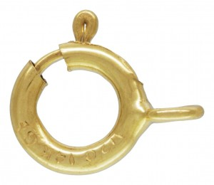 14K Gold filled spring clasp closed link 5mm