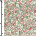 fabric Made In Japan - Roses Multicolore x10cm