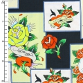Fabric Love Is True by Ed Hardy - Overlapping Patches x10cm