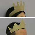 Cardboard crown princess to decorate x1